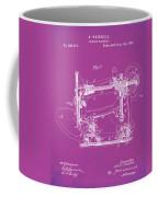 Whitehill Sewing Machine Patent 1885 Pink Coffee Mug