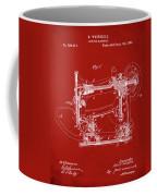 Whitehill Sewing Machine Patent 1885 Red Coffee Mug