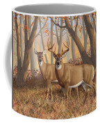 Whitetail Deer Painting - Fall Flame Coffee Mug by Crista Forest