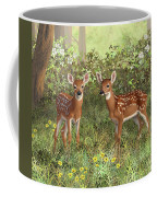 Whitetail Deer Twin Fawns Coffee Mug