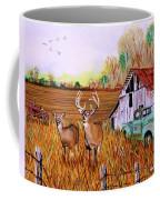 Whitetail Deer With Truck And Barn Coffee Mug