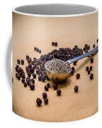 Whole Black Peppercorns With A Heaping Teaspoon Of Ground Pepper Coffee Mug