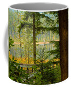 Whonnock Lake Through The Trees Coffee Mug