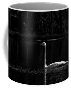 Whooper Swan In Bw 2 Coffee Mug