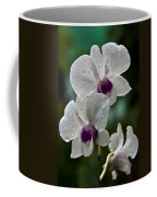 Whte Orchids Coffee Mug