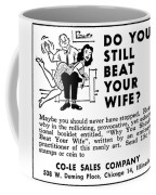 Why You Should Beat Your Wife Coffee Mug