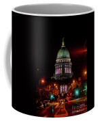 Wi State Capitol From West Washington Ave Coffee Mug