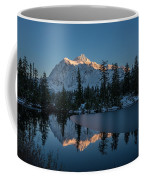 Wide Shuksans Last Light Reflected Coffee Mug
