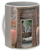 Wider Shot Stone Garden Wall And Clay Urns Coffee Mug