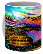 Wild And Crazy Mountainous Sunset Coffee Mug