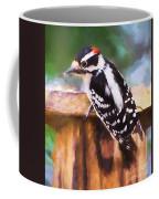 Wild Birds - Downy Woodpecker  Coffee Mug