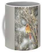 Wild Birds Of Winter - Female Cardinal In The Snow Coffee Mug