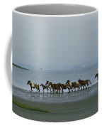 Wild Chincoteague Ponies Run Coffee Mug