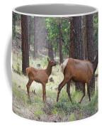 Wild Elk Baby And Mom Coffee Mug