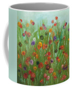 Wild Flowers Abstract Coffee Mug