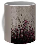 Wild Flowers On The Wall Coffee Mug