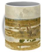 Wild Geese In The Marsh Coffee Mug