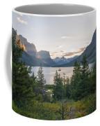 Wild Goose Island Sunset - Glacier National Park Montana Coffee Mug