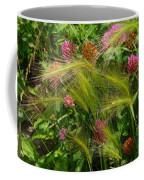 Wild Grasses And Red Clover Coffee Mug