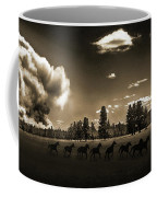 Wild Horse Fire, Sepia Coffee Mug