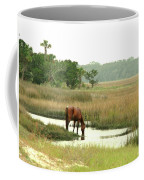 Wild Horse In Saltmarsh Coffee Mug