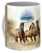 Wild Horses On The Beach Coffee Mug