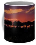 Wild Mustangs At Sunset Coffee Mug