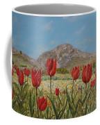 Wild Tulips In Central Crete Coffee Mug