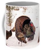 Wild Turkey Parade Print Coffee Mug