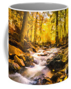 Wild Waterfalls Flowing Through A Forest Coffee Mug