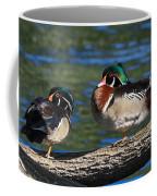 Wild Wood Ducks On A Log Coffee Mug