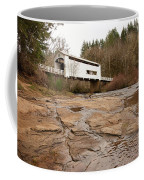 Wildcat Bridge In Winter Coffee Mug by Mary Jo Allen