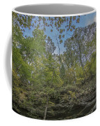 Wildcat Den Cliffs And Trees In Fall Coffee Mug