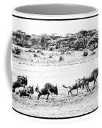 Wildebeest On The Move Coffee Mug