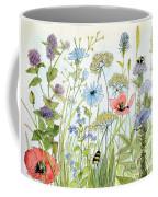 Wildflower And Bees Coffee Mug