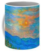 Wildflowers By A Blue Ridge Sunset Coffee Mug