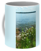 Wildflowers By The Lake  Coffee Mug