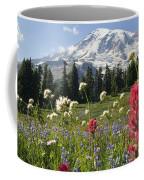 Wildflowers In Mount Rainier National Coffee Mug