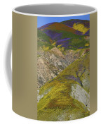Wildflowers Up The Hills Of Temblor Range At Carrizo Plain National Monument Coffee Mug