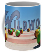 Wildwood's Sign, Wildwood, Nj Boardwalk . Copyright Aladdin Color Inc. Coffee Mug
