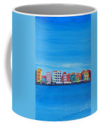 Willemstad Curacao Waterfront In Blue Coffee Mug