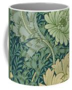 William Morris Wallpaper Sample With Chrysanthemum Coffee Mug