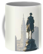 William Penn And George Washington - Philadelphia Coffee Mug by Bill Cannon