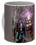 William Seward Statue And Empire State Bldg With Trees Coffee Mug