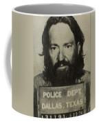 Willie Nelson Mug Shot Vertical Sepia Coffee Mug