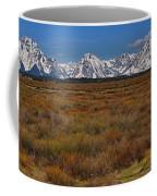 Willow Flats At Grand Teton Panorama Coffee Mug