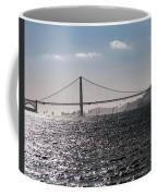 Wind Surfing Under The Bridge Coffee Mug