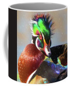 Windblown Wood Duck Coffee Mug