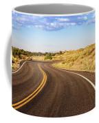 Winding Desert Road At Sunset Coffee Mug