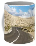 Winding Road On The Pag Island In Croatia Coffee Mug